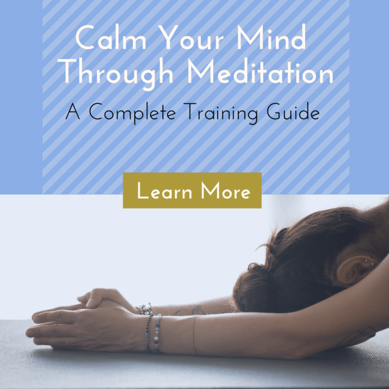 lady yoga pose for Calm Mind Meditation package