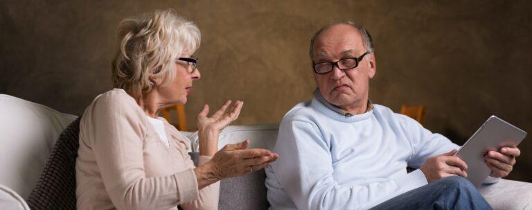 woman saying no to husband or partner