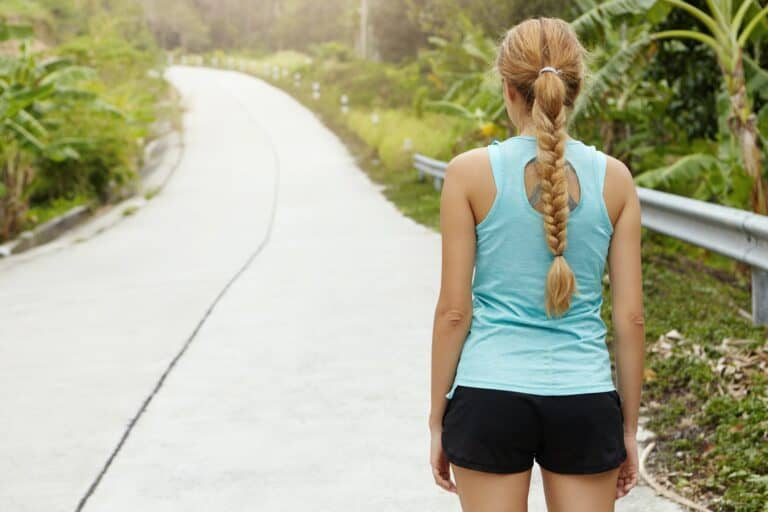 Willpower Determination Woman viewing road ahead